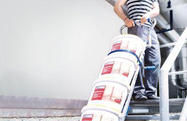 LIFTKAR sube-escaleras eléctricos para ayudar a los transportes en sitios de construcción