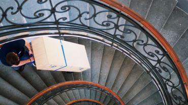 Liftkar SAL Ergo, Fold, Fold-L sube-escaleras eléctrico con cargas pesadas en escaleras de caracol
